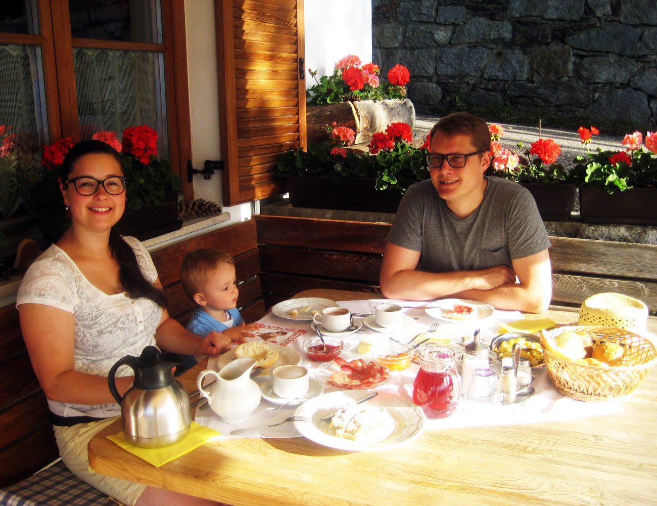 La nostra gustosa colazione nella tradizionale stube