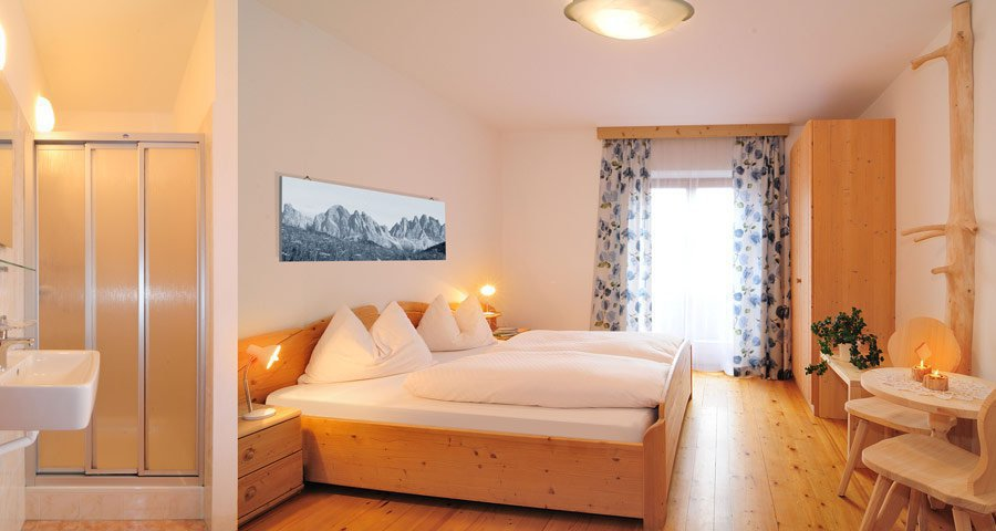 Bedroom of holiday apartment in the Dolomites