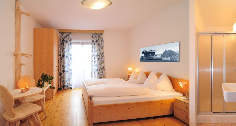 Bedroom holiday apartment in the Dolomites